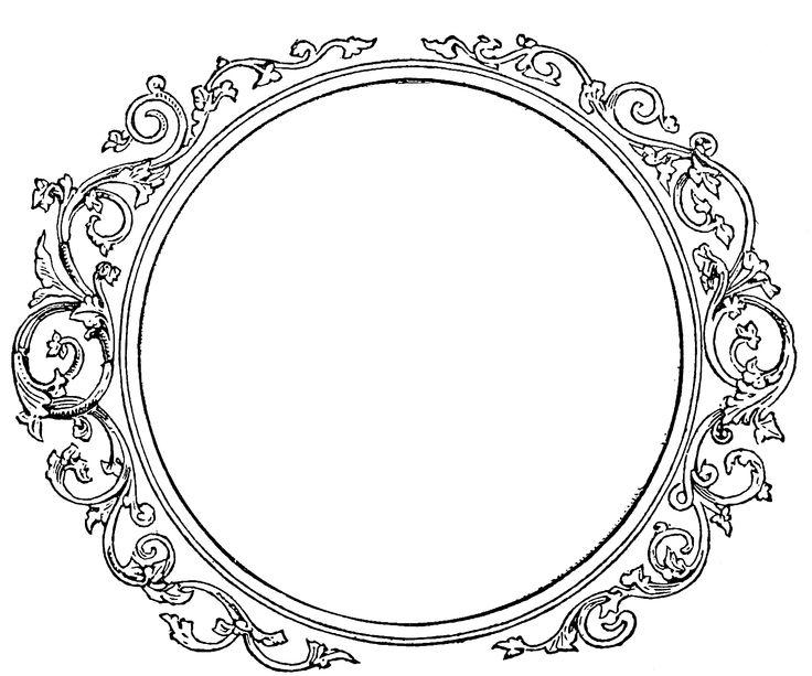 Round frame with encircling scrolls.  frame.jpg 1,492×1,243 pixels