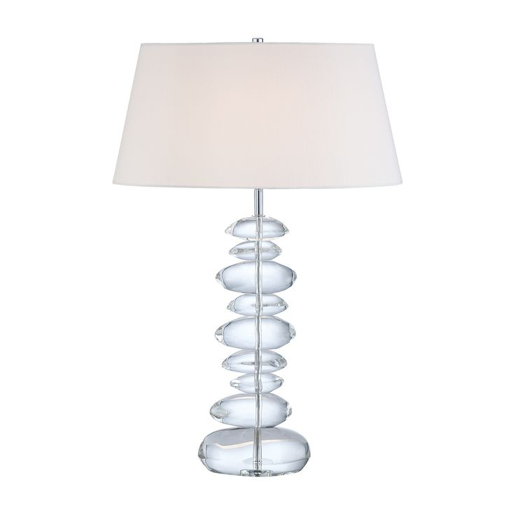 Buy Eidolon Krystal Glass Table Lamp by George Kovacs by Metropolitan Lighting - Quick Ship designer Lighting from Dering Hall's collection of Mid-Century / Modern Transitional Table Lighting.