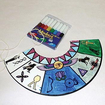 Egyptian Collar Craft, Egpy Craft Kit, Egyptian Fun Kit, Egpyt Activity Set
