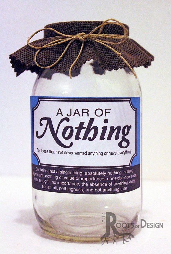 JAR OF NOTHING printable Great gag gift or perfect by RootsDesign