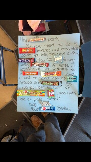 Candy saying poster for promposal | fun stuff | Pinterest ...
