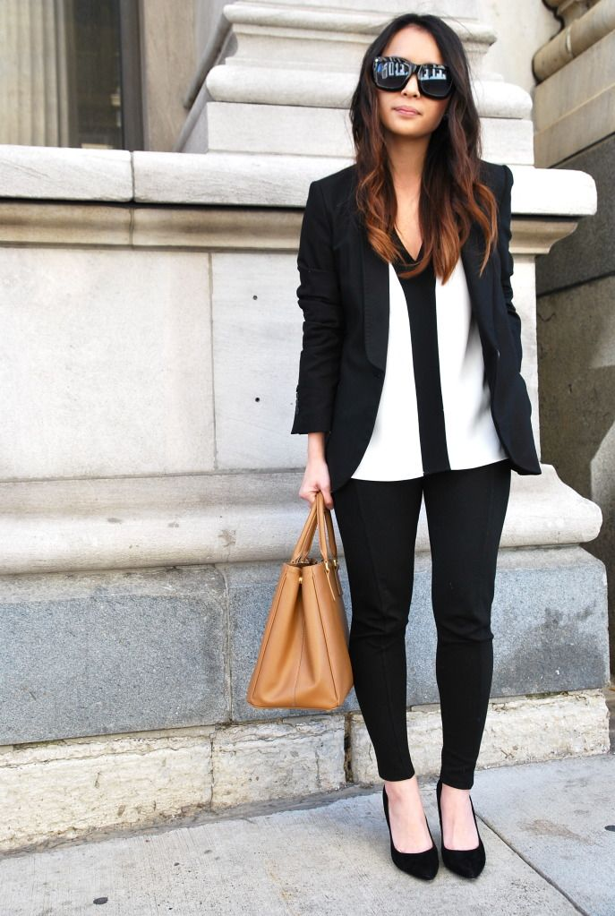 zara top -suggested-, pants, and blazer + mango shoes -suggested- + prada bag
