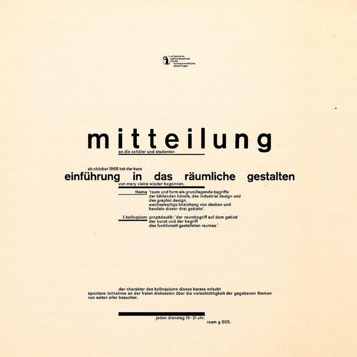 Wolfgang Weingart - 1968