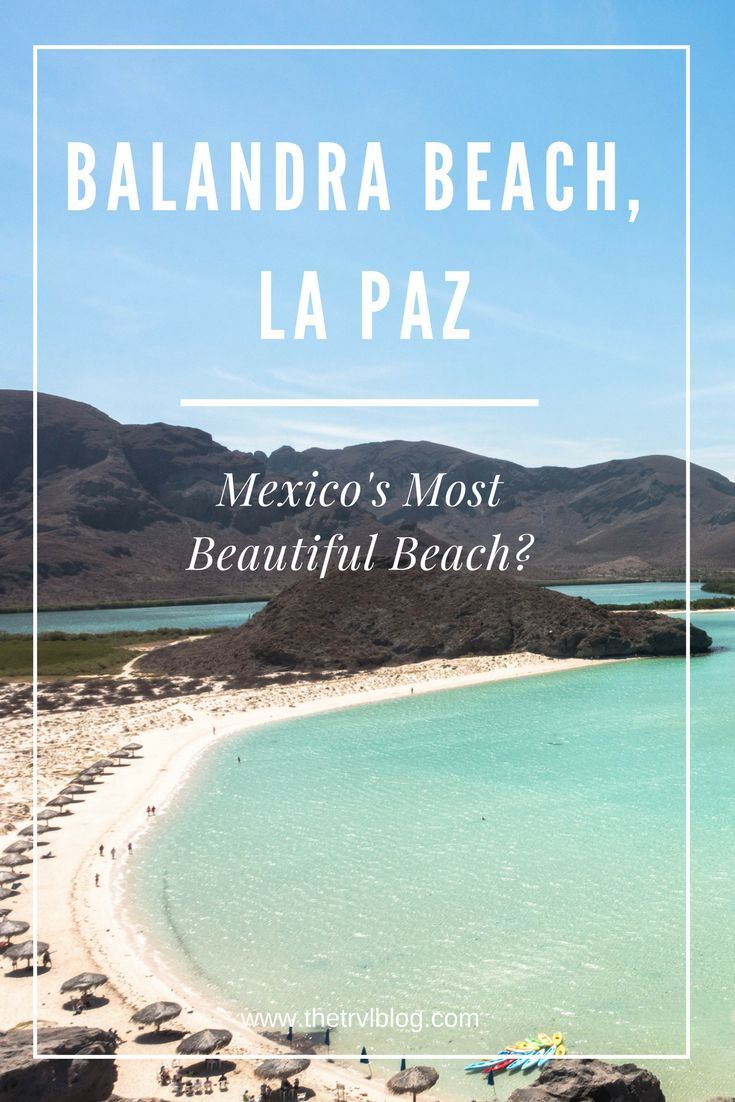 Balandra Beach, La Paz, Mexico.  Is this deserted beach, located 45 minutes outside of the town of La Paz, Mexico's most beautiful beach? Click the link to find out!