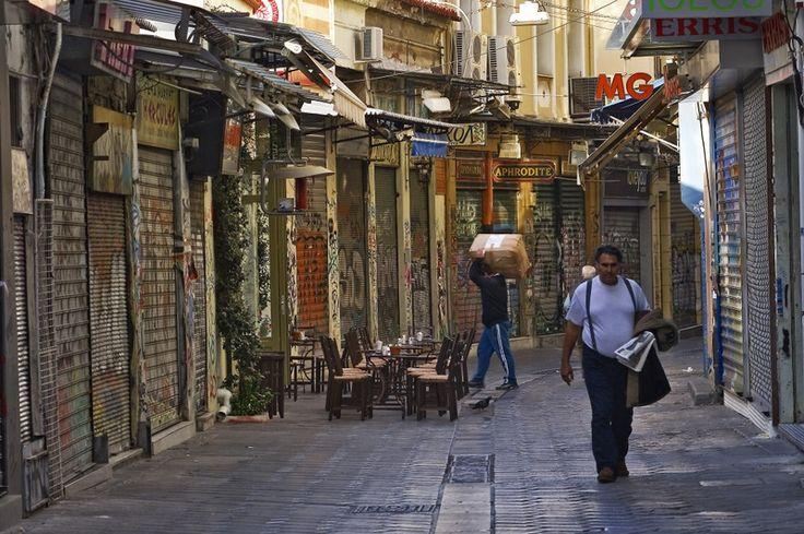 Monastiraki flea market in Athens, Greece