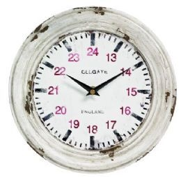 Uhr Wanduhr Shabby Metall vintage Wecker Wand Metalluhr | eBay