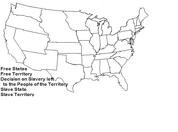 Blank Outline Maps Of The States Of The USA United States Of - Us history civil war blank map