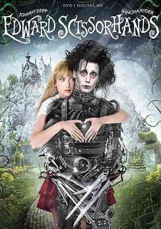 In Tim Burton's EDWARD SCISSORHANDS, a suburban fairy tale with incredibly imaginative sets, an Avon lady, Peg Boggs (Dianne Wiest), discovers the half-finished experiment--a man/monster named Edward