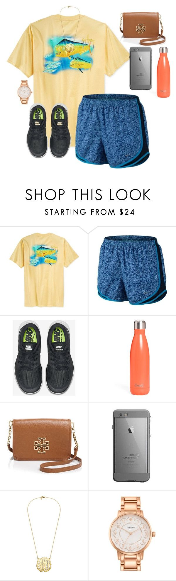 """""""40 questions tag"""" by sassysouthernprep99 ❤ liked on Polyvore featuring Guy Harvey, NIKE, S'well, Tory Burch, Kate Spade, women's clothing, women, female, woman and misses"""