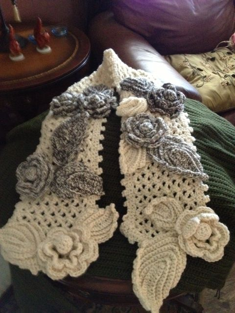 free irish lace crochet scarf patterns - Google Search