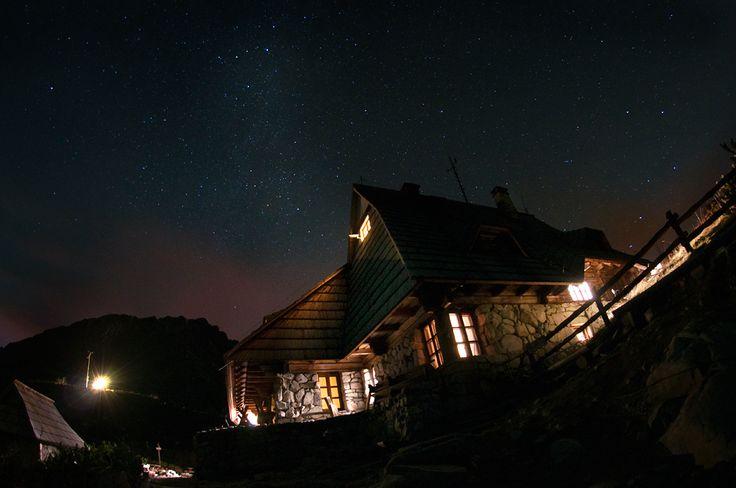 The sky is full of stars  5 Stawów Schelter. Tatra mountains