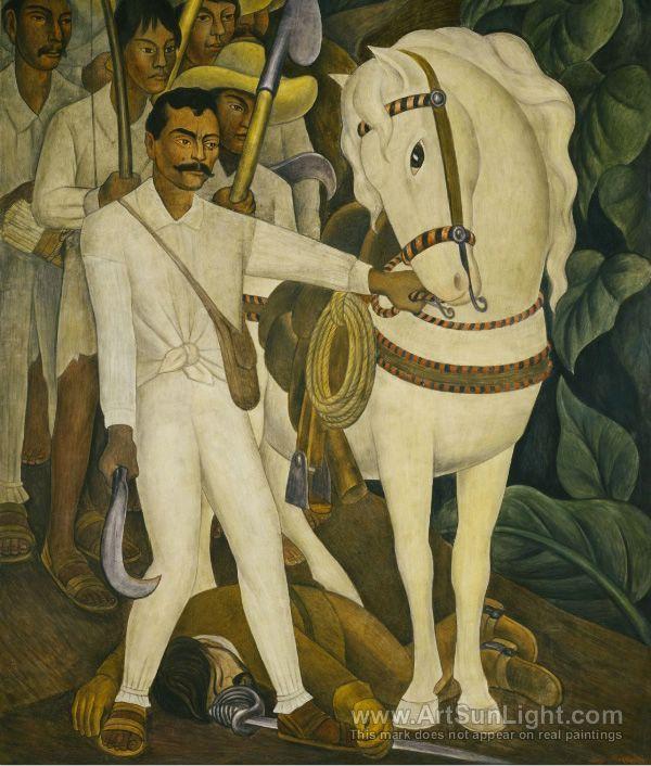 Agrarian Leader Zapata - Diego Rivera