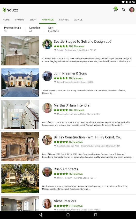 Houzz Interior Design Ideas: screenshot