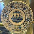 Montelupo, piatto in bicromia con paesaggio, 1550 ca..JPG