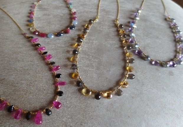 Mix gemstones Necklaces