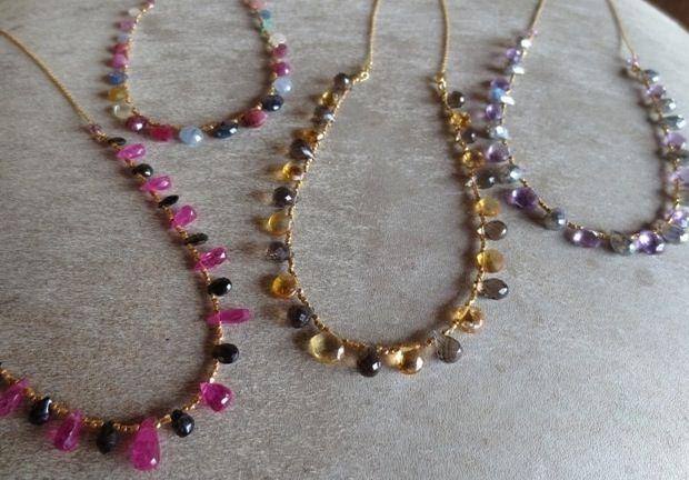 Mix gemstones Necklaces