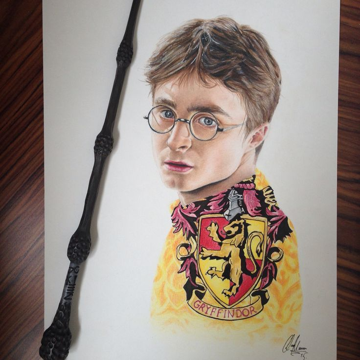 Drawing of Harry Potter by me :D idk if I already pinned this...  It's done in coloured pencils.