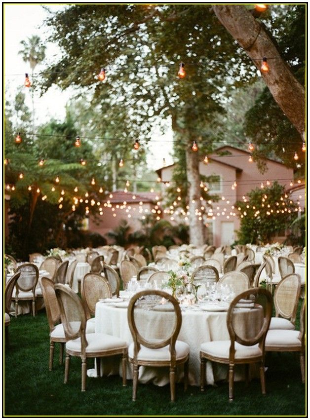 Cheap Backyard Wedding