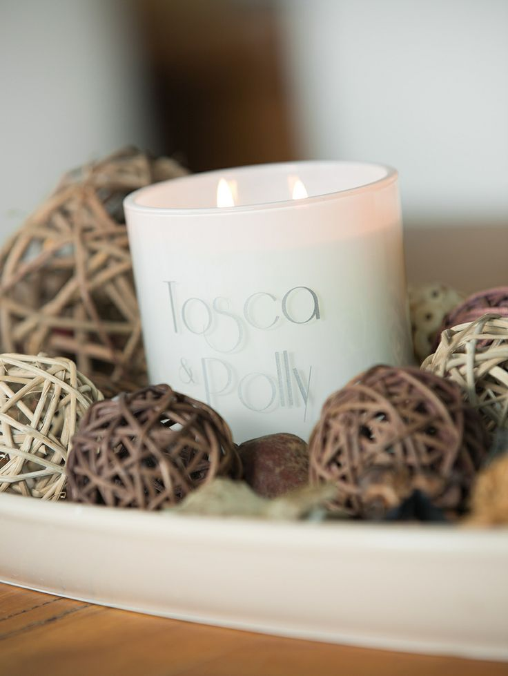 Tosca & Polly Luxury scented Candles - Lifestyle - opaque white vessel - 440g - up to 80 hour burn