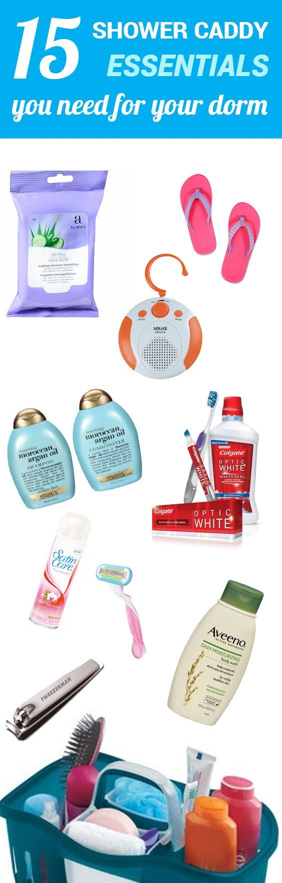 15 Shower Caddy Essentials You Need For Your Dorm – SOCIETY19