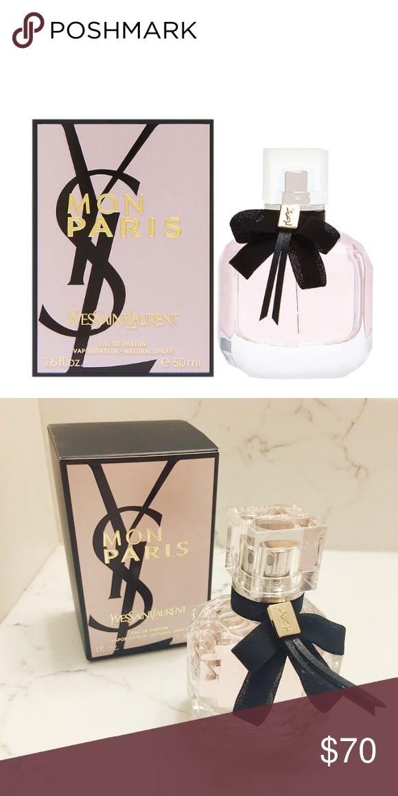 YVES SAINT LAURENT Mon Paris Eau de Parfum YVES SAINT LAURENT Mon Paris Eau de Perfume only sprayed about 3X only selling cause it irritates my skin Yves Saint Laurent Makeup