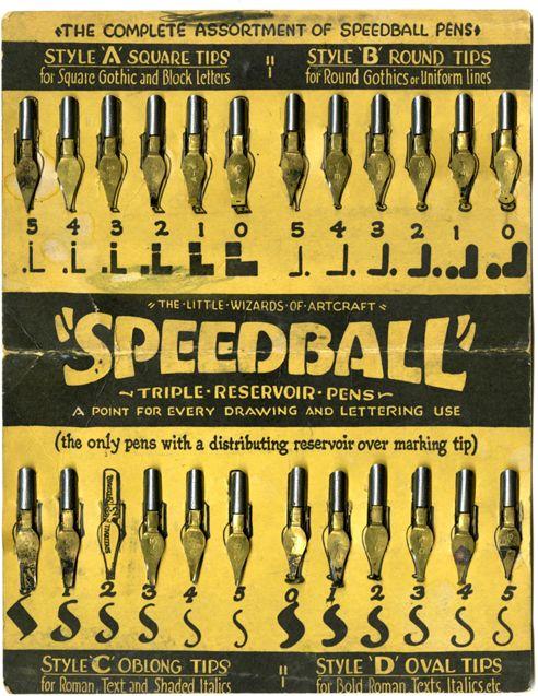 speedball nibs