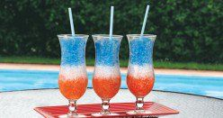 This article is about Fourth of July drink recipes.  It includes a variety of non alcoholic and alcoholic recipes, including layered drinks.  There are lots of photos as well as party resources.