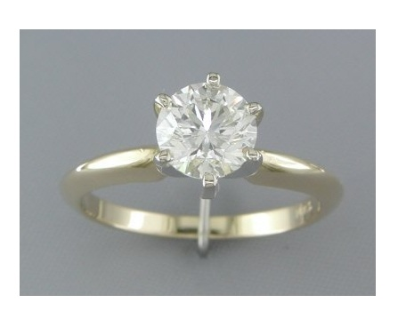 '1.19cts Diamond Solitaire Engagement Ring 14Kt Gold' is going up for auction at 12pm Thu, Oct 18 with a starting bid of $2500.