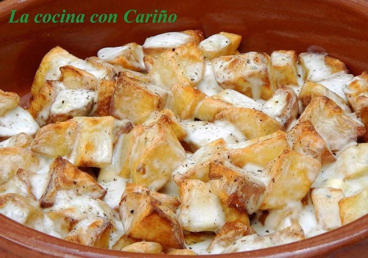 Patatas al queso Roquefort o queso azul