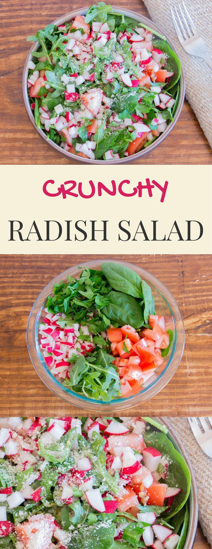 Crunchy radish salad.
