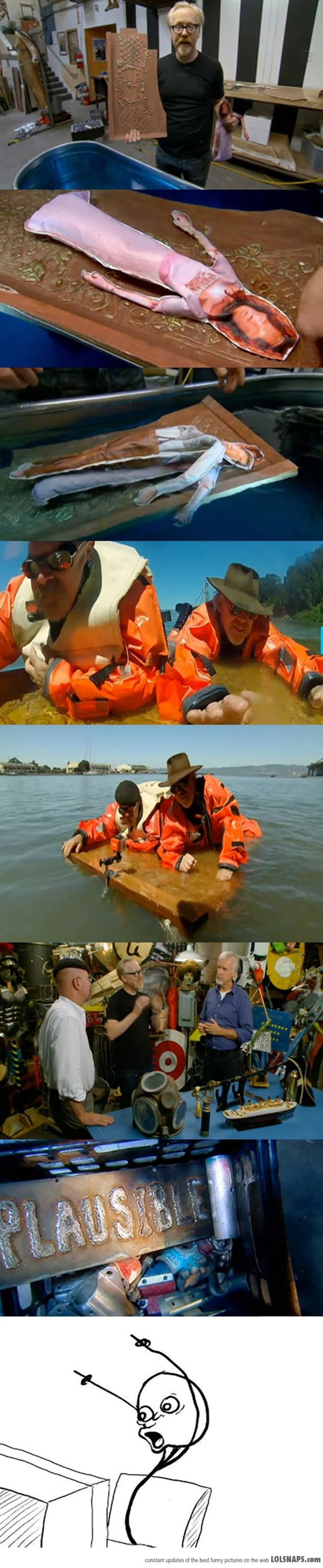 Mythbusters Prove That Two Could Have Fit Myth Busters1 James Cameron0