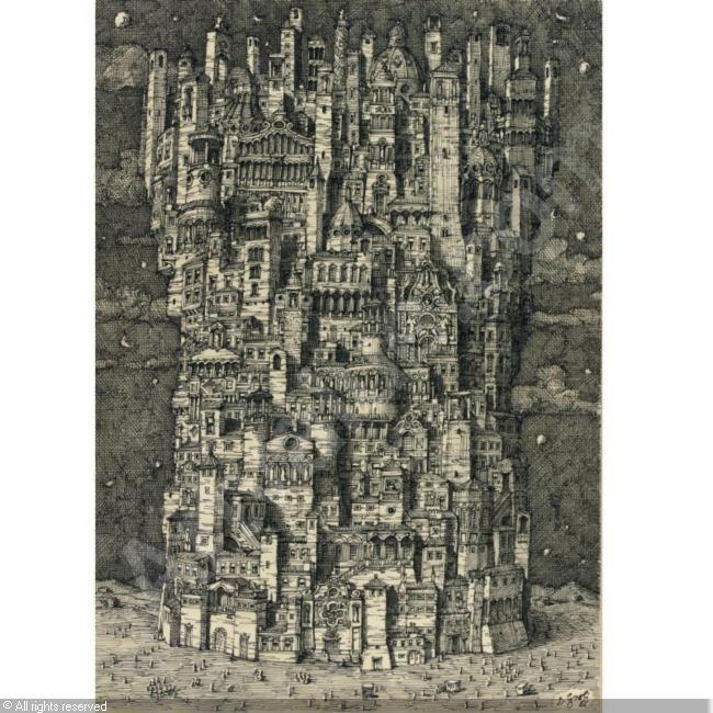 IMAGINARY CITY by Domenico Gnoli