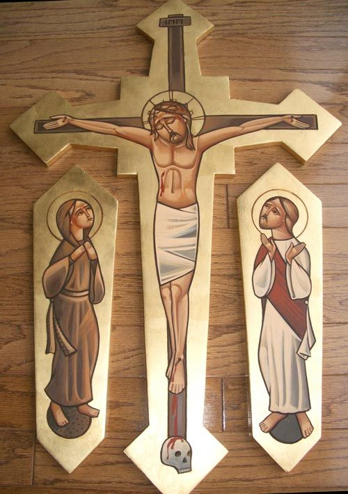 Icon of Christ on the cross by Fadi Mikhail at St George's Cathedral, Stevenage