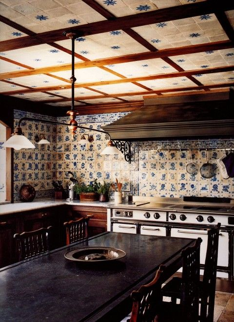 Kitchen - St. Moritz, Switzerland Studio Peregalli- Glamorous Places, Stylish Things
