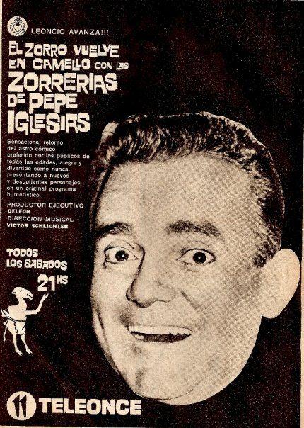 Publicidad de programación de CANAL 11, Buenos Aires, década del 60.
