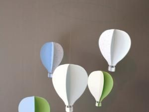 DIY .. Mes petites montgolfières .. Mobile de chambre pour bébé • Hellocoton.fr