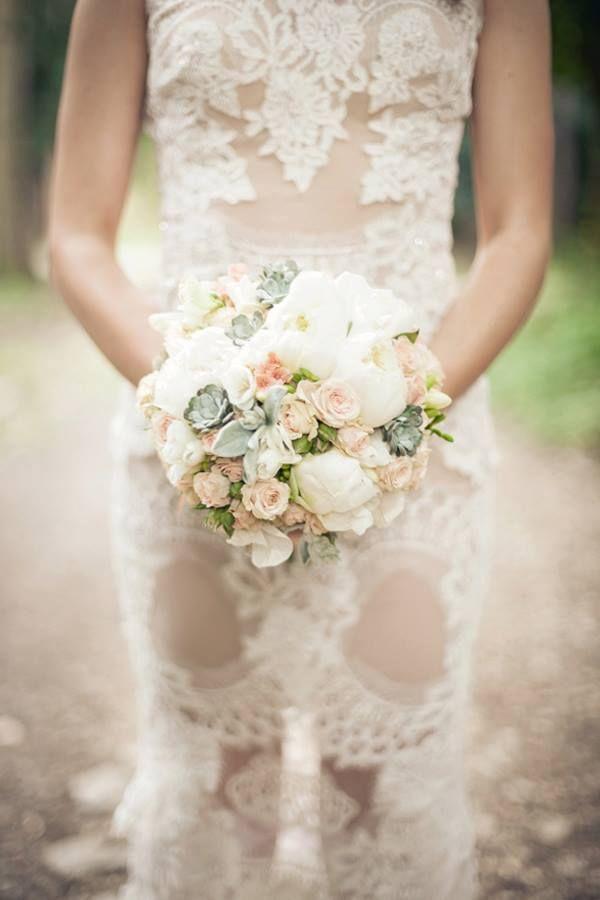 Wedding bouquet rose peony flowers Bouquet by Pollak cvijeće - Vjenčani buket ruže božuri