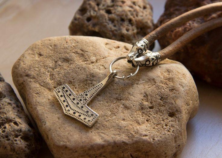 Viking Jewelry Silver Mjolnir Rømersdal Authentic Replica by Mojoviking on Etsy