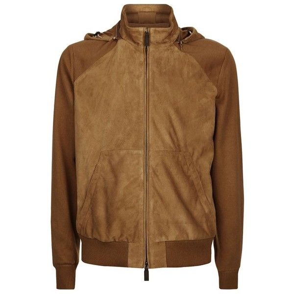 Canali Suede Bomber Jacket ($2,060) ❤ liked on Polyvore featuring men's fashion, men's clothing, men's outerwear, men's jackets, mens short sleeve jacket, mens suede leather jacket, mens suede bomber jacket and mens suede jacket