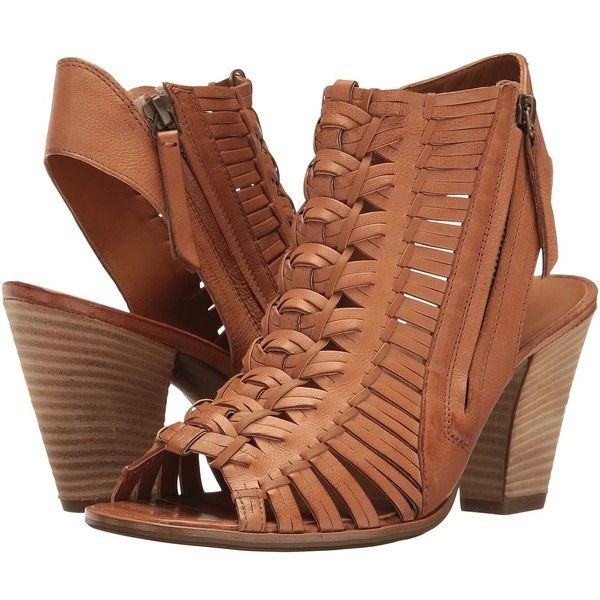 Paul Green Miranda (Cuoio Leather) Women's Shoes (470 AUD) ❤ liked on Polyvore featuring shoes, sandals, woven shoes, peep toe shoes, woven sandals, woven leather sandals and paul green shoes