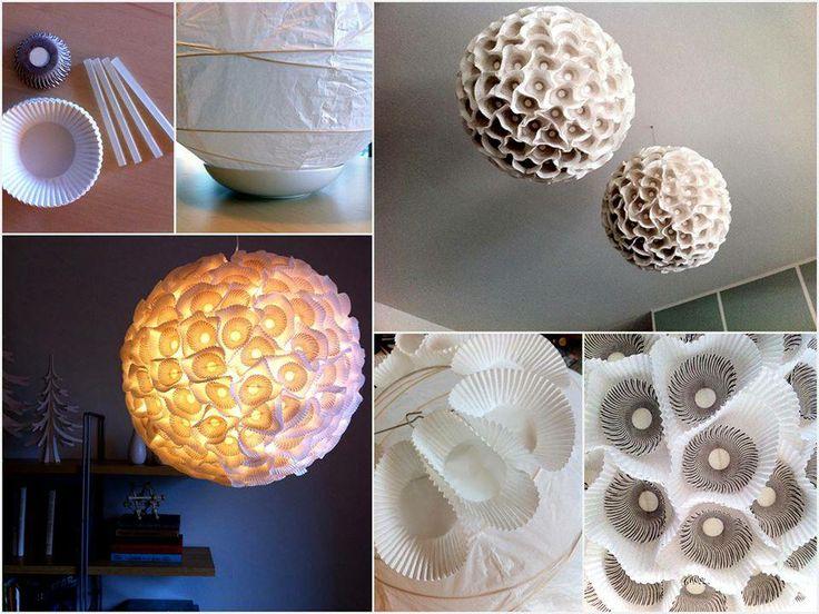 Con il #RicicloCreativo dei pirottini trasformate il vostro lampadario in un opera d'arte  #EcoDesign  SEGUICI SU: www.facebook.com/CreoEco