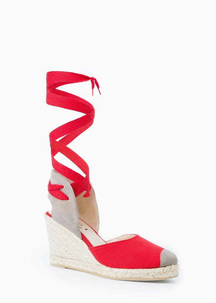 Esparto leather sandals