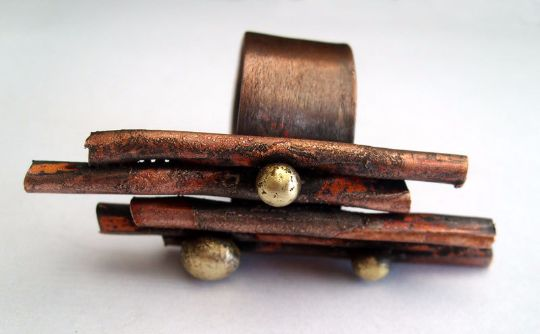 Rings – Twigs. sculptural copper ring – a unique product by LydiaRED on DaWanda