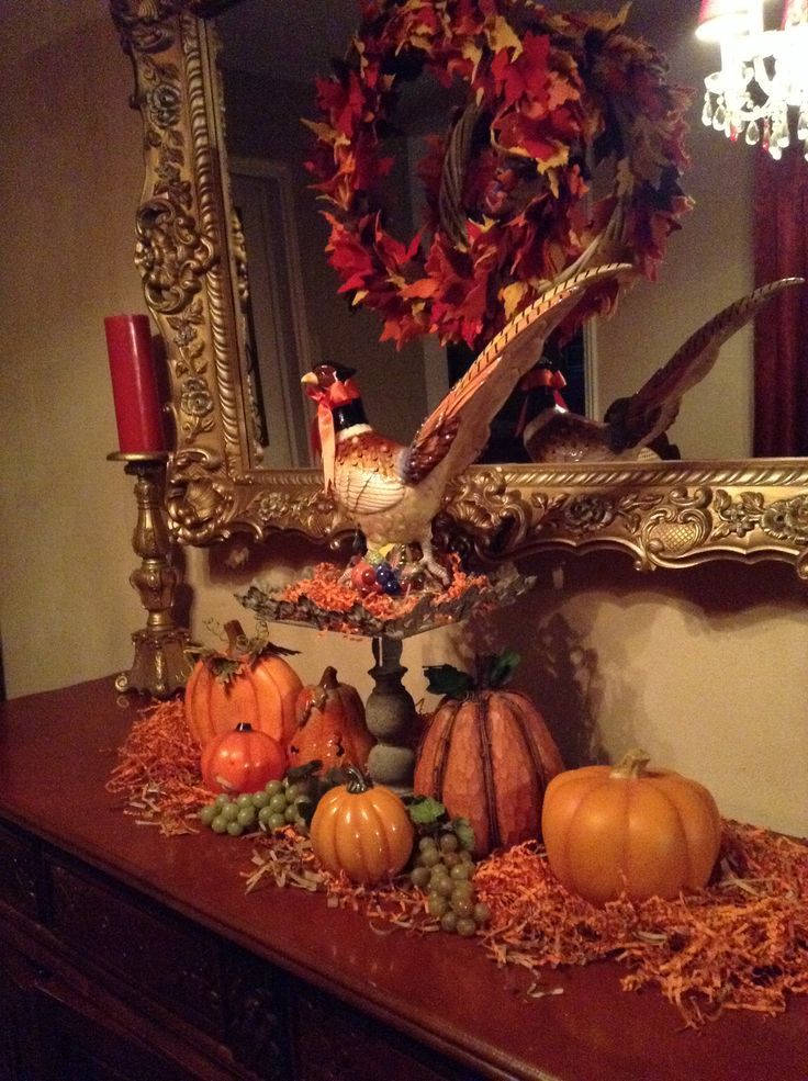Fall Decor Table And Buffet Decor Pinterest