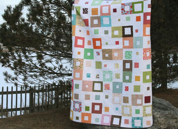 spotted squares quilt
