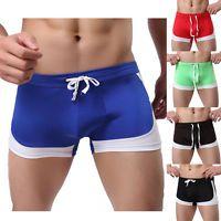 Boxer Briefs Underwear Swim Shorts Pants Men's Swimming Trunks Sexy Swimwear Hot