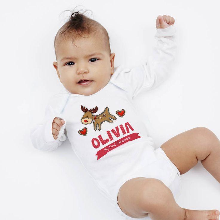 Personalised 'First Christmas' Reindeer Vest