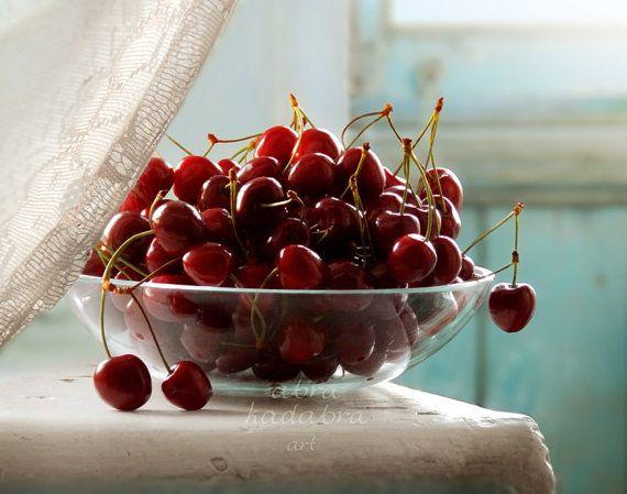 Rustic Cherries Instant Digital Download Art by AbraKadabraArt