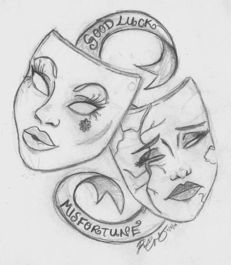 ... Masks Drawings Top drama masks drawings images for pinterest tattoos