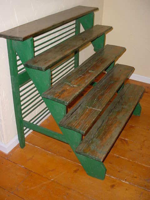 Vintage 5 Tier Stair Step Wood Plant Display Stand | eBay